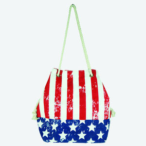 American Flag Bucket Bag